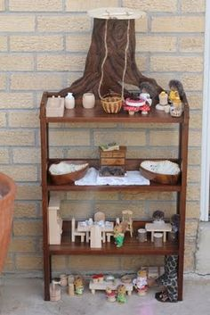 The most adorable Upcycled Doll House Made From CD Rack and furniture