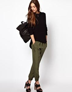 Image 1 ofWhistles Sporty Silk Jogger