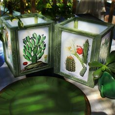 Dollar Store Frame Lanterns  •  Free tutorial with pictures on how to make a decorative light in under 60 minutes