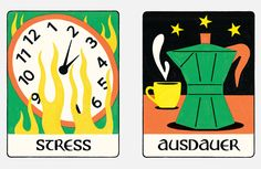 Zeit Campus - Academic Oracle Stress, Oracle Cards, Tarot Cards, Graphic Design, Indie, Honey, Tarot Card Decks, Psychological Stress, Tarot