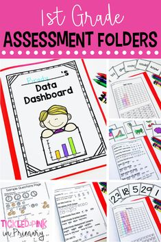 These grade assessments and data tracking folders are a great way to see what your students know! Use these for report cards, parent teacher conferences, or for use with any of your reading or math assessments. Student Data Binders, Data Folders, Student Goals, 1st Grade Math, Grade 1, First Grade, Second Grade, Literacy Assessment, Reading Assessment