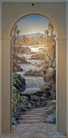 Trompe l'oeil - perfect for the end of a hallway...