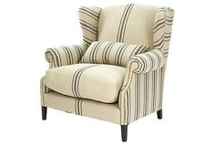 Summerhurst Club Chair on OneKingsLane.com - this is not a slipcover but the style could be duplicated