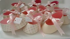 ballerina shoes made of paper | Baby Ballet Shoe Gift Box Favors - Baby Girl Shower - Baby Girl's ...