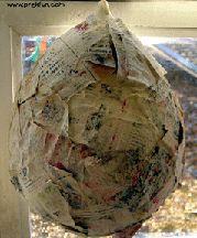 paper mache dinosaur egg great for dinosaur theme