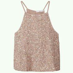 Designer Clothes, Shoes & Bags for Women Sparkly Crop Tops, Sequin Crop Top, Sequin Shirt, Sleeveless Crop Top, Pink Sequin, Pink Sparkly, Pastel Tops, Pink Tops, Pastel Pink