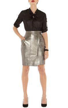 Karen Milen Fashion leather skirt
