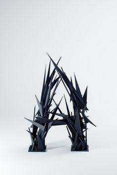Splinter: 3D Typeface by Arslan Shahid, via Behance