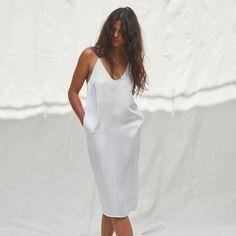 Washable Silk Slip Dress - Lunya Silk Pants, Silk Dress, Silk Slip, Brides And Bridesmaids, Lounge Wear, Long Sleeve Tees, White Dress, How To Wear, Dresses