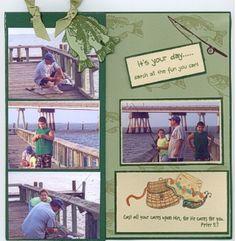 CDS Fishing Scrapbook Page