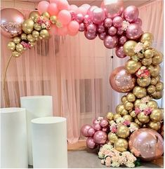 Chrome Gold Rose Pastel Baby Pink Balloons Garland Arch Kit Rose Balloon For Birthday Wedding Baby Shower Party Decor Balloon Arch Diy, Balloon Garland, Balloon Decorations, Birthday Party Decorations, Birthday Parties, Balloon Ideas, Gold Diy, Wedding Balloons, Birthday Balloons