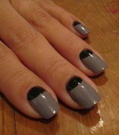 Cult Nails Blog: Half Moon Manicure
