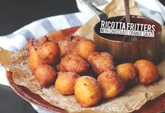 Ricotta Fritters with Chocolate Orange Sauce | The Sugar Hit
