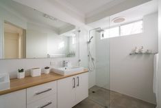 Modus Property 353 Sevenoaks St, Cannington WA 6107 1300-136-384 Bathroom Renovations Perth, Bathroom Repair, Large Shower, Big Windows, Cabinet Makers, Double Vanity, Tub, Layout, Design