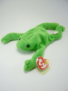 89ed5c63eb4 Legs the Frog Original Ty Beanie Baby PVC Pellets Vintage 1993  Ty