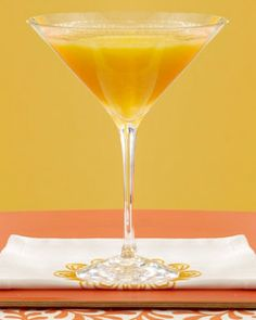 Mango Daiquiri    Ingredients  ½ cup ice cubes  1 cup chopped fresh mango  2 oz. Bacardi white rum  1 oz. mango flavored liqueur  1/3 oz. fresh lemon juice  Mango slice to garnish    Preparation  Process the ice cubes, fruit, rum, liqueur and lemon juice in blender until smooth. Then pour the mixture into a chilled cocktail or martini glass and garnish with the mango slice.