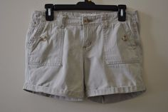 Aéropostale LIGHT KHAKI CUFFED SHORT WITH BUTTON ON POCKETS Sz 3/4 #Aropostale #CasualShorts
