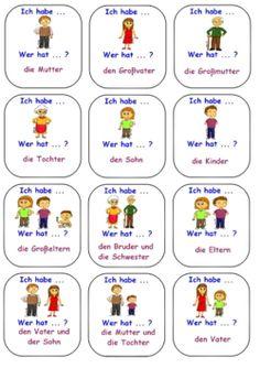 Ich habe...    Wer hat ... ? Study German, Learn German, German Grammar, German Words, German Language Learning, Grammar And Vocabulary, School Signs, Germany, Teaching