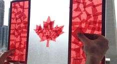 Contact Paper Stained Glass Canadian Flag: Easy Craft for Kids | CBC Parents