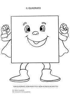 Super hero themed shaped character  Preschool coloring Square