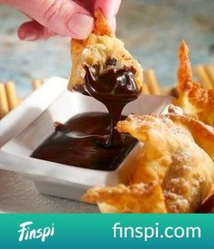 Chocolate Chip Cookie Dough Wontons