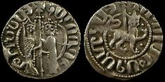 Armenian Cilician coin of 1226 by King Hetum