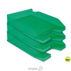 BANDEJA SOBREMESA PLASTICO Q-CONNECT VERDE TRANSPARENTE Flatware, Tray, Dessert Tray, See Through, Trays, Green, Cutlery, Tablewares