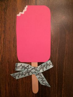 fun way for an ra to welcome residents with an ice cream/popsicle door dec