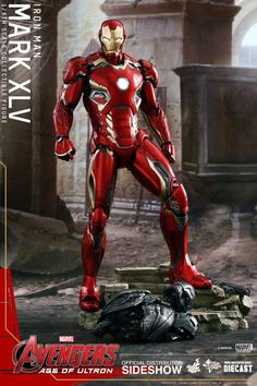 Hot Toys Iron Man Mark XLV (45) from Avengers 2: Age of Ultron diecast  1/6 scale collectible figure