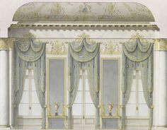 Rossi, Carlo (1775-1849) Window wall of the White Hall, Mikhailovsky Palace, St Petersburg (constructed in 1819-1825, a Neoclassical palace of Grand Duke Michael Pavlovich of Russia, designed by Carlo...