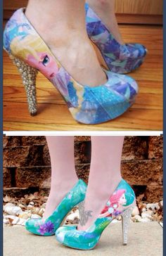 Disney Shoes I love the Ariel ones the little mermaid is one of my favorite Disney movies