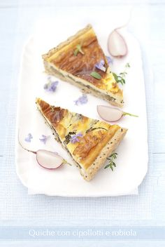 "spring onions and ""robiola"" cream cheese whole wheat tart   www.pane-burro.blogspot.com"