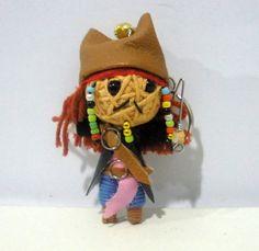 jack sparrow String doll Voodoo doll keychain /