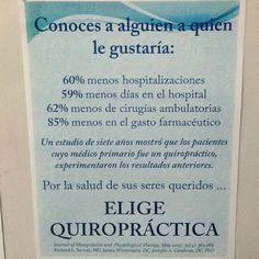 Elige Quiropractica! @creabienestar #wellness #bienestar #prevención