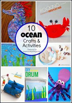 I HEART CRAFTY THINGS: 10 Preschool Ocean Crafts and Activities
