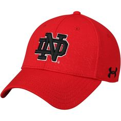 696c31a27ee Notre Dame Fighting Irish Under Armour Team Signal Caller Flex Hat – Red