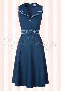Daisy Dapper Emma Dress Navy 102 31 18071 20160322 0005W