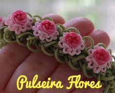 Pulseiras de Elásticos com Flores