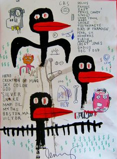 JEAN MICHEL BASQUIAT-untitled (CREATION OF MAN)Basquiat .More Pins Like This At FOSTERGINGER @ Pinterest