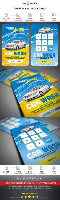 Car Wash Rack Card  Rack Card Design  Print Your Rack