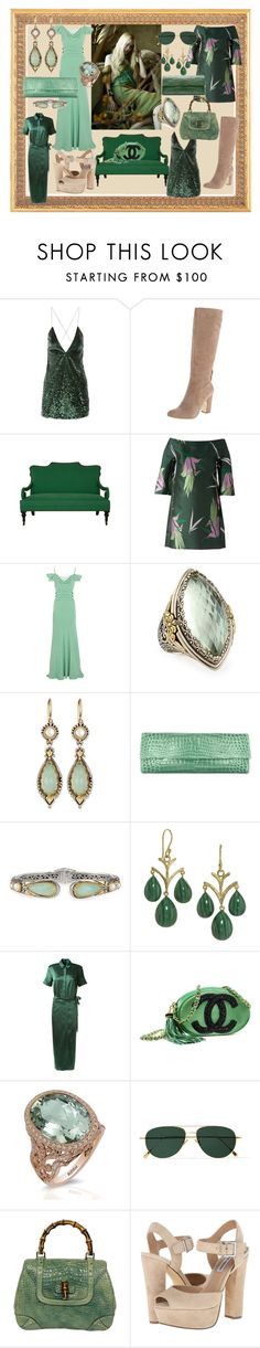 """""""70s Green Pastels"""" by vivianladaa ❤ liked on Polyvore featuring Marc Jacobs, Anne Klein, Jayson Home, Marni, Alberta Ferretti, Konstantino, Elizabeth Showers, Rosetta Getty, Chanel and Effy Jewelry"""