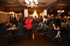 Beautiful space with beautiful guests at Rosehill! #RosehillVenue #spacious #NetworkingEvent #Chandelier #Lighting