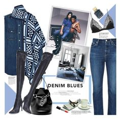 """Denim blues"" by naki14 ❤ liked on Polyvore featuring AG Adriano Goldschmied, Yves Saint Laurent, Sea, New York, Alexander Wang, Altuzarra, Maison Francis Kurkdjian, Bobbi Brown Cosmetics, denim, lingerie and maisonclose"