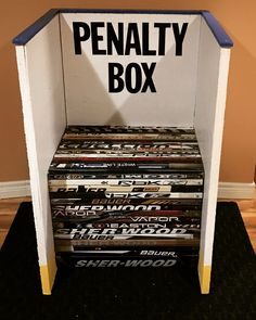Penalty Box! Used broken sticks for the bench.