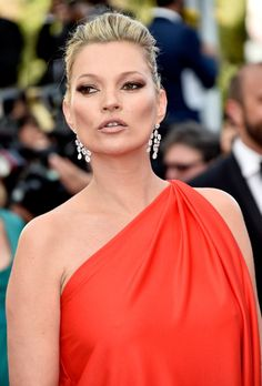 Pin for Later: Every Single Gorgeous Beauty Look From This Year's Cannes Film Festival Day 6 Kate Moss's cheekbones looked razor sharp at the premiere of Loving.