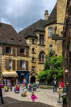 Place des Oies (Geese Square) - Sarlat La Caneda, Perigord (now Dordogne), France
