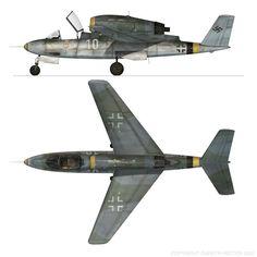 Heinkel He 162D by Gareth Hector (Artwork No Scale)