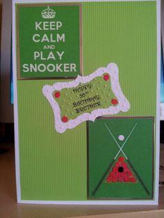 Snooker birthday card