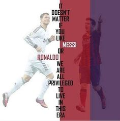 Jesteśmy uprzywilejowani do życia w tej pięknej erze piłki nożnej • Nieważne czy lubisz Messiego czy Cristiano Ronaldo • Zobacz >> #messi #lionelmessi #ronaldo #cristianoronaldo #football #soccer #sports #pilkanozna