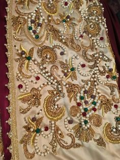 Pearl and stone all over work for a caftan 2016